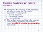 predictive random graph ranking motivation