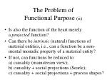 the problem of functional purpose ii