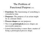 the problem of functional purpose v