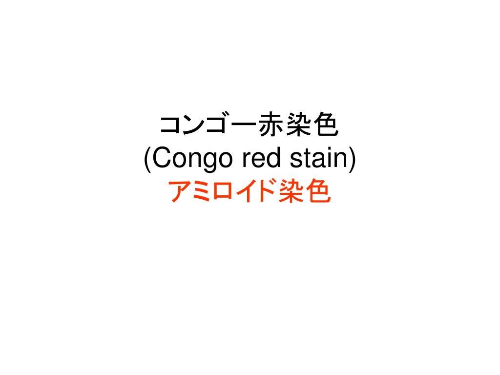 congo red stain l.