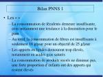 bilan pnns 19