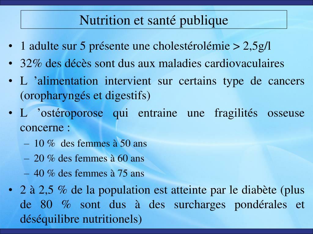 nutrition et sant publique l.