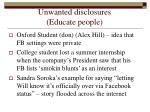 unwanted disclosures educate people