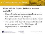 carrier access to data