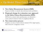op model three core components