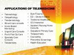 applications of telemedicine