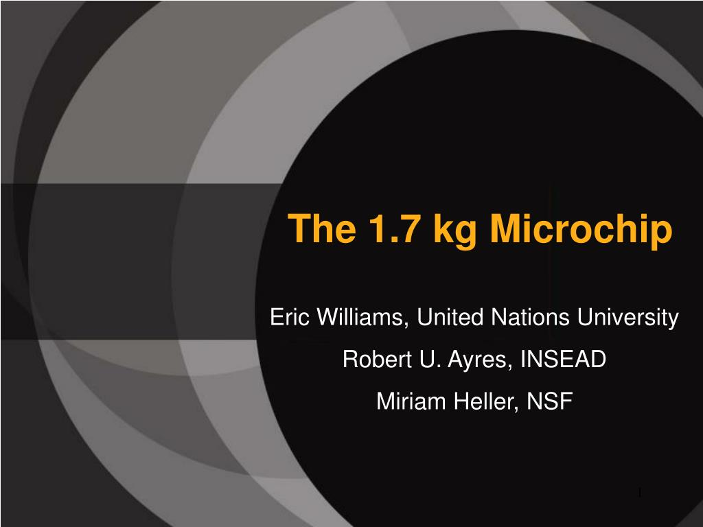 the 1 7 kg microchip l.
