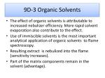 9d 3 organic solvents