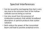 spectral interferences