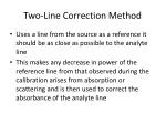 two line correction method