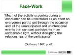 face work