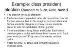 example class president election compare to bush gore nader