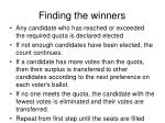finding the winners