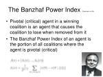 the banzhaf power index bachrach et al 08