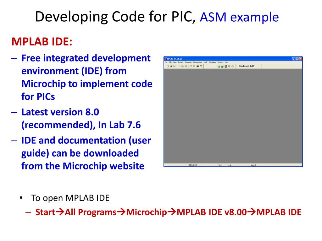 Mplab Ide Tutorial Examples