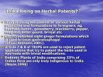 india losing on herbal patents