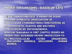 micro organisms basis of life