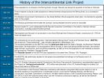 history of the intercontinental link project