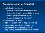 problems socio vs technical
