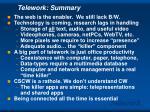 telework summary