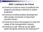 idea looking to the future