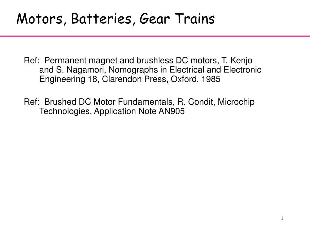motors batteries gear trains l.