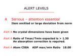 alert levels