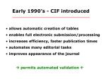 early 1990 s cif introduced
