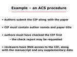 example an acs procedure