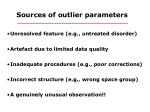 sources of outlier parameters
