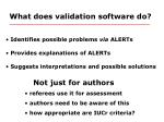 what does validation software do