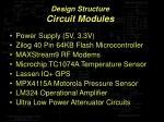 design structure circuit modules