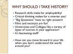 why should i take history