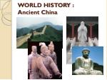 world history ancient china