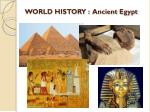 world history ancient egypt