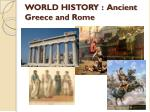 world history ancient greece and rome