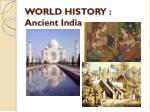world history ancient india