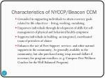 characteristics of nyccp beacon ccm