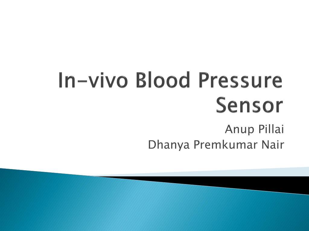 in vivo blood pressure sensor l.