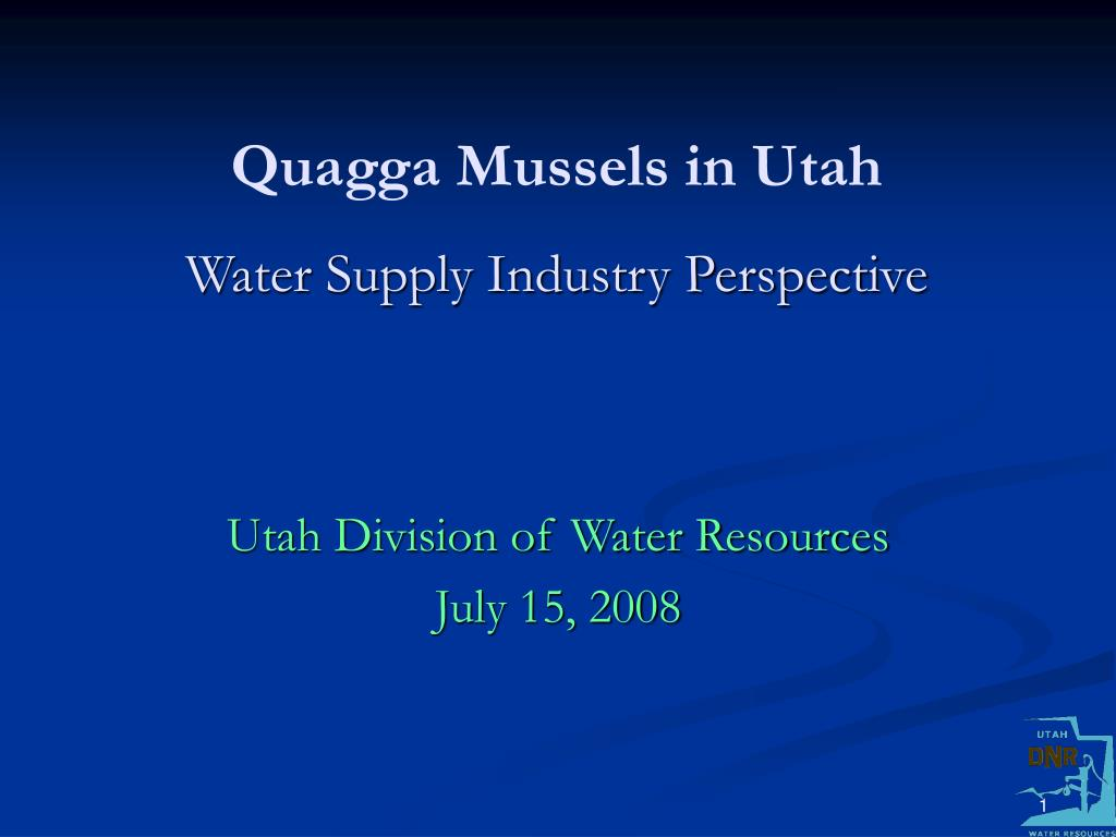 quagga mussels in utah water supply industry perspective l.