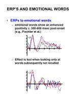 erp s and emotional words