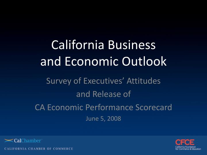 california business and economic outlook