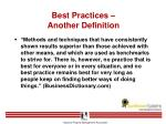 best practices another definition