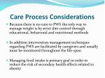 care process considerations