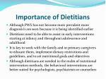 importance of dietitians
