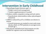 intervention in early childhood