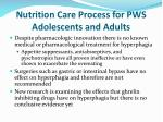 nutrition care process for pws adolescents and adults24