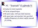 1 journals logbooks