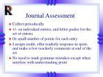 journal assessment