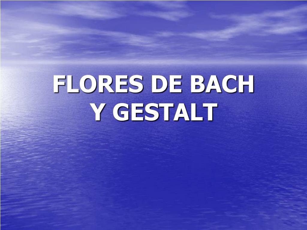 flores de bach y gestalt l.
